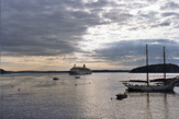 Cruise Ship Entering Bar Harbor